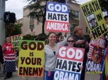 Westboro Baptist Church protest